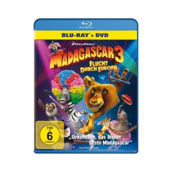 Madagascar 3 - Flucht durch Europa (Blu-ray + DVD) (2012) [Blu-ray] [Gebraucht - Zustand (Sehr Gut)]