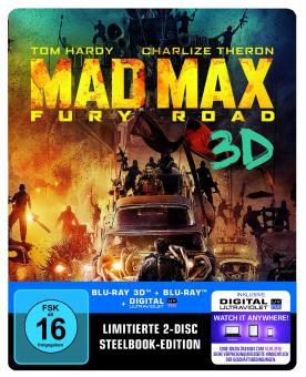 Mad Max: Fury Road (Limited Steelbook, 3D Blu-ray+Blu-ray) (2015) [3D Blu-ray]