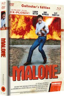 Malone - Nichts wird ihn aufhalten können (Limited Mediabook, Blu-ray+DVD, Cover C) (1987) [FSK 18] [Blu-ray]