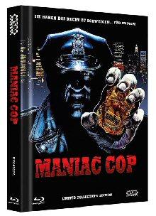 Maniac Cop (Limited Uncut Mediabook, Blu-ray+2 DVDs, Cover A) (1988) [FSK 18] [Blu-ray]