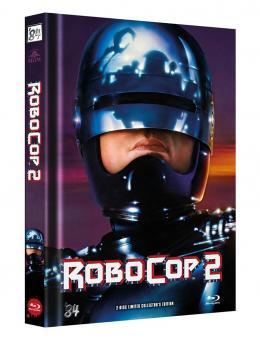 Robocop 2 (Limited Mediabook, Blu-ray+DVD, Cover B) (1990) [FSK 18] [Blu-ray]