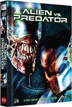 Alien vs. Predator (Limited 3 Disc Mediabook, 2 Blu-ray + DVD, Cover D) (2004) [Blu-ray]