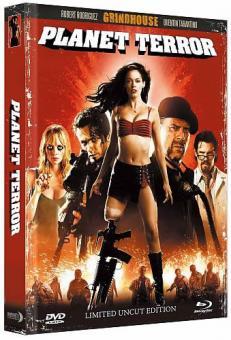 Planet Terror (Limited Uncut Wattiertes Mediabook, Blu-ray+DVD) (2007) [FSK 18] [Blu-ray]