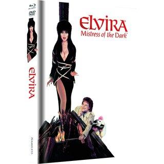 Elvira - Herrscherin der Dunkelheit (Limited Mediabook, Blu-ray+DVD, Dog Cover) (1988) [Blu-ray]
