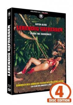 Lebendig Gefressen (Limited Mediabook, Blu-ray+2 DVDs+CD, Cover C) (1980) [FSK 18] [Blu-ray]
