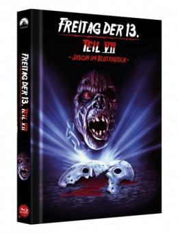 Freitag der 13. Teil 7 - Jason im Blutrausch (Limited Mediabook, Cover C) (1988) [FSK 18] [Blu-ray]