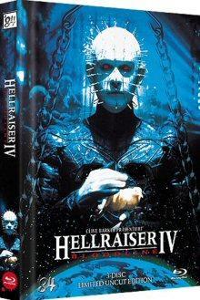 Hellraiser IV (3 Disc, Mediabook, Blu-ray + 2 DVDs) (Motiv Edition) (1996) [FSK 18] [Blu-ray]