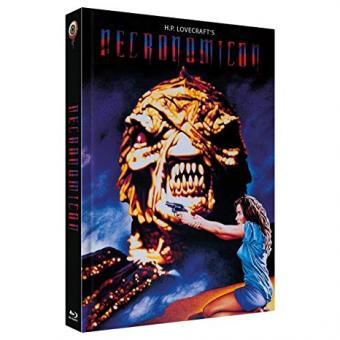 H.P. Lovecraft's Necronomicon (3 Disc Limited Mediabook, Blu-ray+2 DVDs, Cover A) (1993) [FSK 18] [Blu-ray]