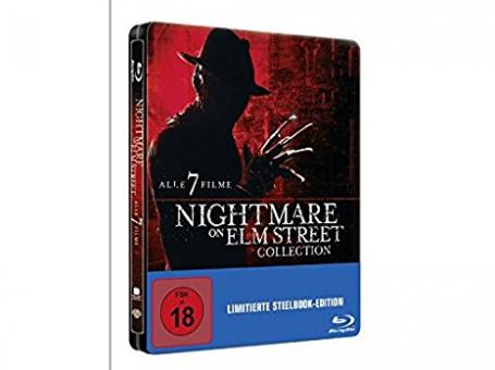 Nightmare on Elm Street Collection - Teil 1-7 (5 Discs, Steelbook) [FSK 18] [Blu-ray]