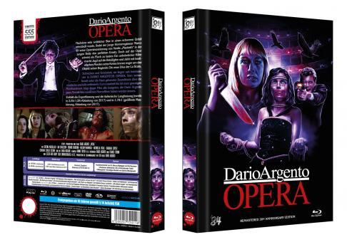 Opera - Terror in der Oper (Limited 4 Disc Mediabook, 2 Blu-ray's+2 DVDs) (1987) [Blu-ray] [Gebraucht - Zustand (Sehr Gut)]