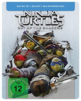 Teenage Mutant Ninja Turtles - Out of the Shadows (Limited Steelbook, 3D Blu-ray+Blu-ray+Bonus Disc) (2016) [3D Blu-ray]