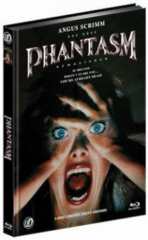 Phantasm (3 Disc Limited Mediabook, Blu-ray+2 DVDs, Cover A) (1979) [FSK 18] [Blu-ray]