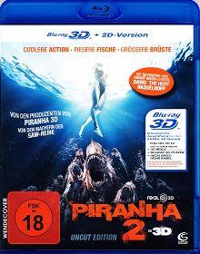 Piranha 2 (Uncut, 3D+2D Version) (2012) [FSK 18] [3D Blu-ray]