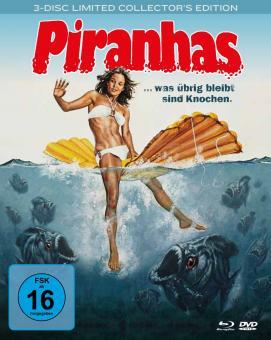 Piranhas (3 Disc Limited Mediabook, Blu-ray+ 2 DVDs) (1978) [Blu-ray]