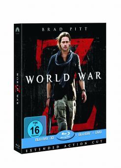 World War Z (Limited Superset, +Blu-ray+DVD) (2013) [3D Blu-ray]