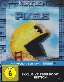 Pixels (Lenticular Steelbook Edition, 3D Blu-ray+Blu-ray) (2015) [3D Blu-ray]