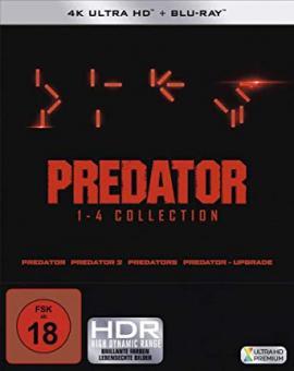Predator 1-4 - Box (4K Ultra HD+Blu-ray's, Uncut) [FSK 18] [4K Ultra HD]