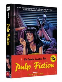 Pulp Fiction (Limited Wattiertes Mediabook, Blu-ray+DVD) (1994) [Blu-ray]