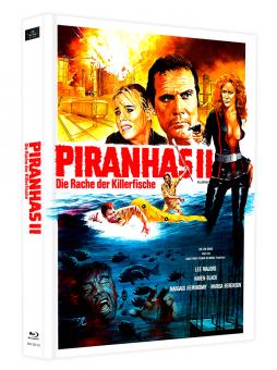 Piranhas II - Die Rache der Killerfische (Limited Mediabook, 2 Discs, Cover D) (1979) [Blu-ray]