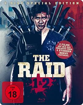 The Raid 1&2 (Limited Uncut Steelbook, 2 Blu-ray's+2 DVDs) [FSK 18] [Blu-ray]