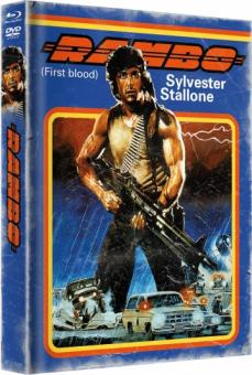 Rambo 1 - First Blood (Limited Mediabook, Blu-ray+DVD, Cover A) (1982) [Blu-ray]