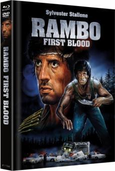 Rambo 1 - First Blood (Limited Mediabook, Blu-ray+DVD, Cover B) (1982) [Blu-ray]