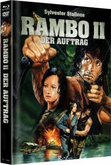 Rambo 2 - Der Auftrag (Limited Mediabook, Blu-ray+DVD, Cover B) (1985) [FSK 18] [Blu-ray]