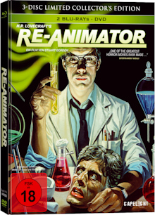 Re-Animator (3-Disc Limited Collector's Edition Mediabook, Blu-ray+DVD) (1985) [FSK 18] [Blu-ray]