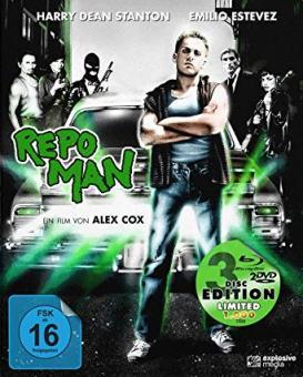 Repo Man (Limited Mediabook, Blu-ray+ 2 DVDs) (1984) [Blu-ray]