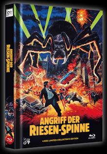 Angriff der Riesenspinne (4 Disc Limited Mediabook, Blu-ray+2 DVDs+CD-Soundtrack, Cover B) (1975) [Blu-ray]