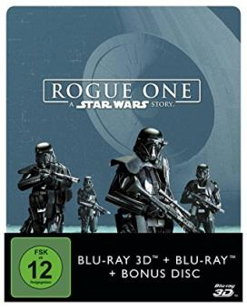 Rogue One - A Star Wars Story (3 Discs Limited Steelbook, 3D Blu-ray+2 Blu-ray's) (2016) [3D Blu-ray]