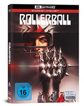 Rollerball (3 Disc Limited Mediabook, 4K Ultra HD+2 Blu-ray's) (1975) [4K Ultra HD]