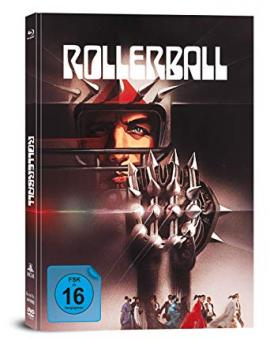 Rollerball (3 Disc Limited Mediabook, 2 Blu-ray's+DVD) (1975) [Blu-ray]