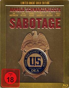 Sabotage - Limited Steelbook Gold Edition (2014) [FSK 18] [Blu-ray]