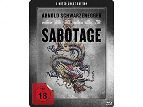 Sabotage - Limited Steelbook Edition (2014) [FSK 18] [EU Import mit dt. Ton] [Blu-ray]