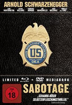 Sabotage - Limited Mediabook Edition (Blu-ray+DVD) (2014) [FSK 18] [Blu-ray]
