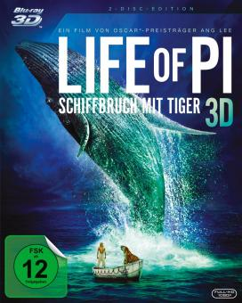 Life of Pi - Schiffbruch mit Tiger (2 Disc Edition) (2012) [3D Blu-ray]