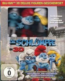 Die Schlümpfe (Deluxe Figuren-Geschenkset) (+ 2D, Kurzfilm, Eine schlumpfige Weihnachtsgeschichte, 3 Figuren, Steelbook) (2011) [3D Blu-ray]