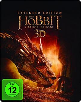 Der Hobbit: Smaugs Einöde (5 Disc Steelbook, Extended Version, 3D Blu-ray+Blu-ray) (2013) [3D Blu-ray]