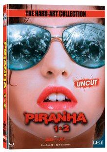 Piranha 1 + 2 (Limited Mediabook Edition, 2D + 3D Blu-ray, Cover C) (2010) [FSK 18] [3D Blu-ray]