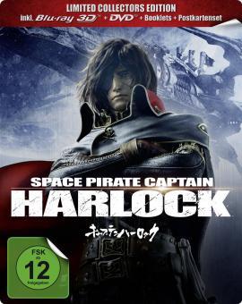 Space Pirate Captain Harlock (Limited Steelbook, 3D Blu-ray + DVD) (2013) [3D Blu-ray]