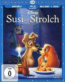 Susi und Strolch (Diamond Edition, 2 Disc, im Schuber) (1955) [Blu-ray]