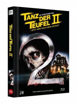 Tanz der Teufel 2 (3 Disc Limited Mediabook, 4K Ultra HD+Blu-ray, Cover C) (1987) [4K Ultra HD]