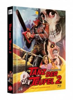 Tanz der Teufel 2 (3 Disc Limited Mediabook, 4K Ultra HD+Blu-ray, Cover G) (1987) [4K Ultra HD]