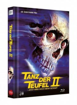 Tanz der Teufel 2 (3 Disc Limited Mediabook, 4K Ultra HD+Blu-ray, Cover H) (1987) [4K Ultra HD]