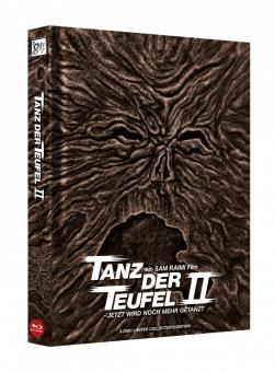 Tanz der Teufel 2 (3 Disc Limited Wattiertes Mediabook, 4K Ultra HD+Blu-ray, Cover A) (1987) [4K Ultra HD]