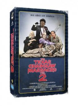 The Texas Chainsaw Massacre 2 (Limited Collectors Edition im VHS-Design, 2 Discs) (1986) [FSK 18] [Blu-ray]