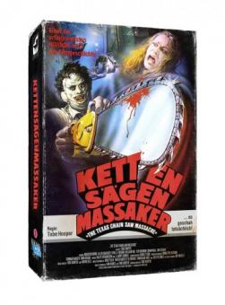 Texas Chainsaw Massacre (Limited Collectors Edition im VHS Design, 2 Discs) (1974) [FSK 18] [Blu-ray]