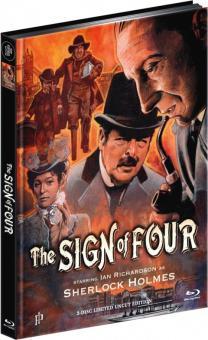 Sherlock Holmes - Im Zeichen der Vier (Limited Mediabook, Blu-ray+DVD) (1983) [Blu-ray]