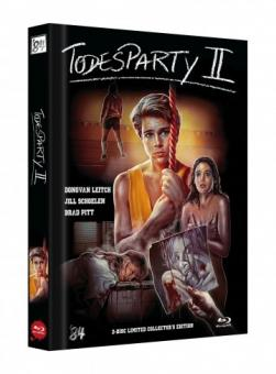 Die Todesparty 2 (Cutting Class) (Limited Mediabook, Blu-ray+DVD, Cover B) (1989) [FSK 18] [Blu-ray]